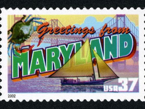 Maryland stamp
