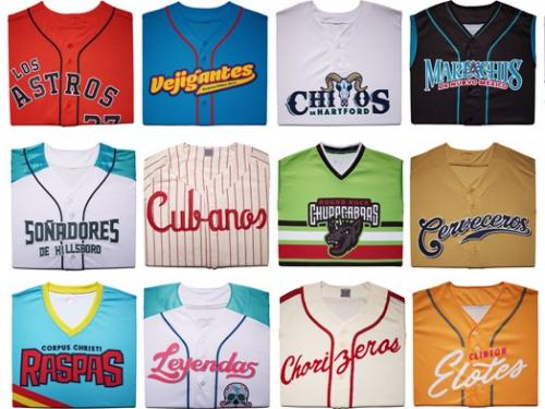 Custom uniforms display cultural pride and signal Latino presence and excellence in baseball,