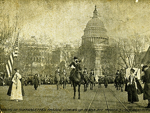 Postcard from Woman Suffrage Parade, 1913