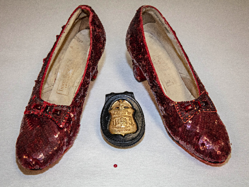 recovered pair of ruby slippers