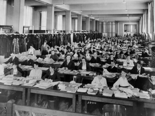Bureau of War Risk Employees Working in the U.S. National Museum, 1918