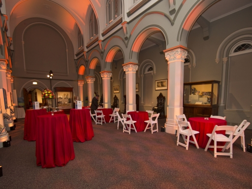 Schermer Hall with tables