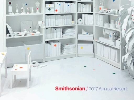 2017 Annual Report Cover with Kusama exhibition