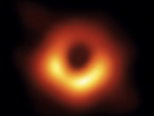 photograph of a black hole