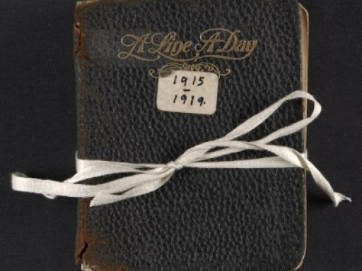 diary tied with ribbon