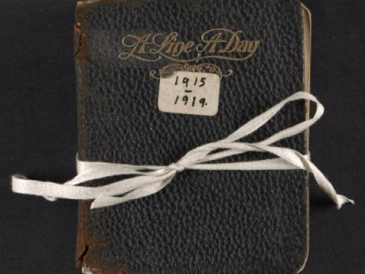 diary tied with ribbon