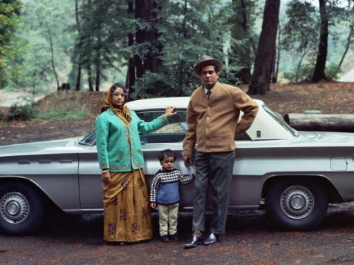 Ghosh family photograph with car