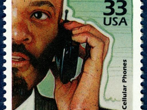 cellular phone stamp