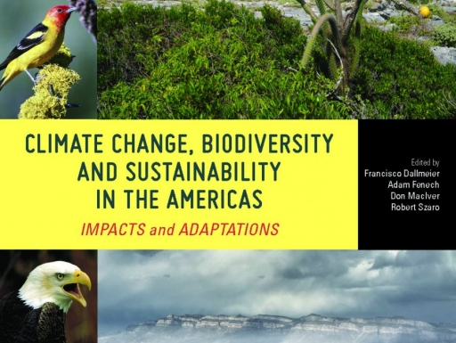 Climate Change, Biodiversity, and Sustainability in the Americas Impacts and Adaptations book cover.