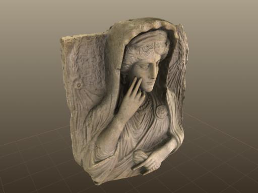 3d model of antique bust