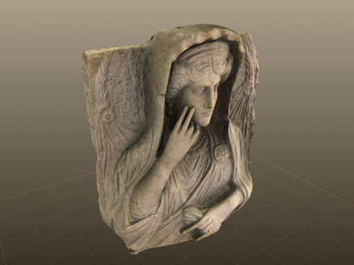 3d model of antique bust.