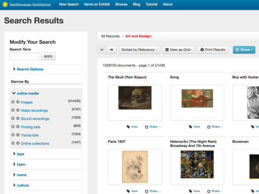 Collections Search Center Website
