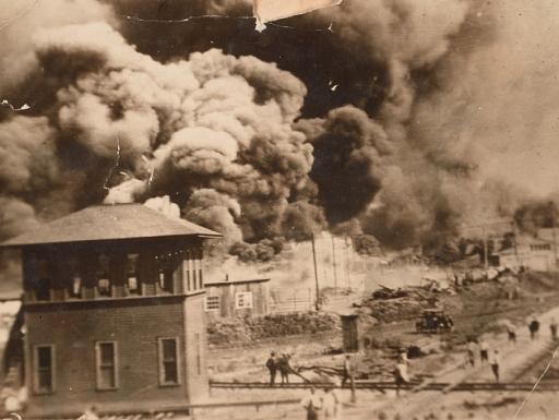 burning city of Tulsa