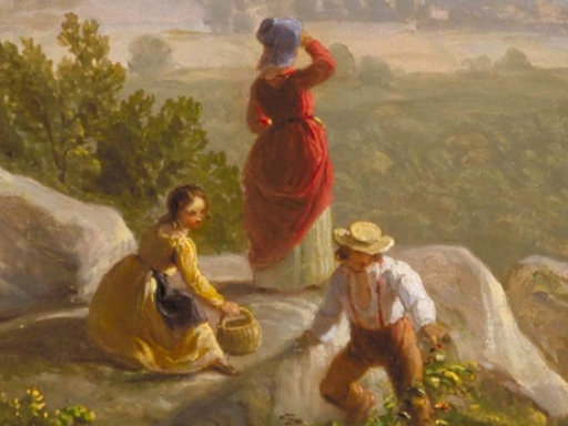 children in landscape