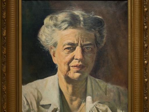 Eleanor Roosevelt by Bernard Frydrysiak.
