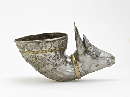 Spouted vessel with gazelle protome