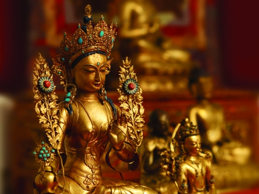 Tibetan Buddhist Shrine Room
