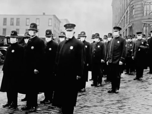 The Pandemic Century image from the Spanish Flu era