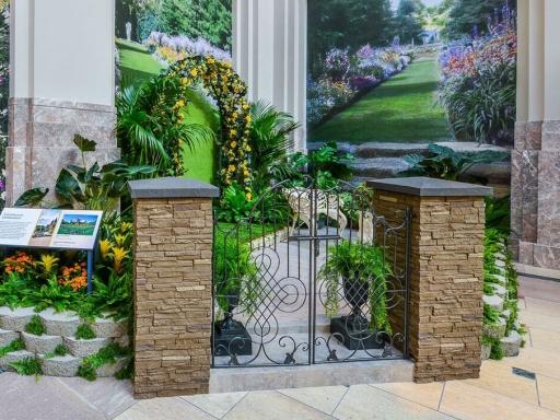 Garden exhibition hosting teaching event.
