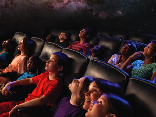 kids in planetarium.