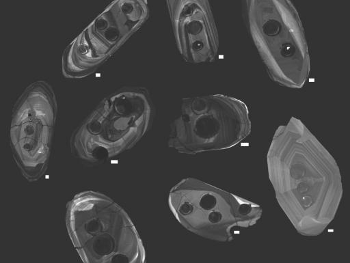 Interior of crystals seen through electron microscope