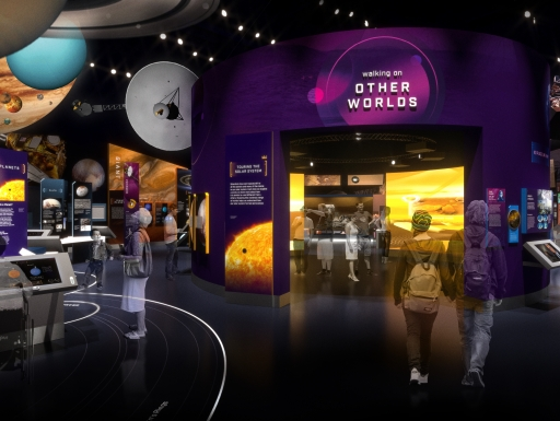 Artists rendering of Exploring the Planets Gallery