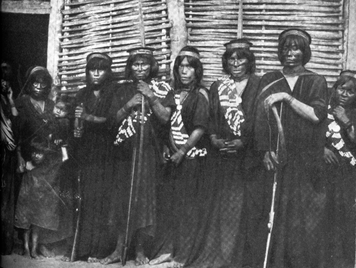 Indigenous delegation posing for group photo