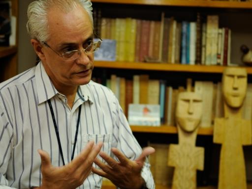 Anthropologist Fernando Santos-Granero in his office