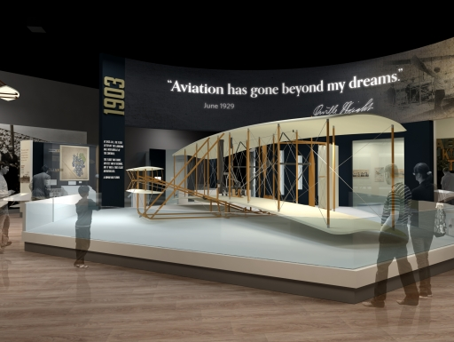 Artists rendering of Wright Brothers Gallery
