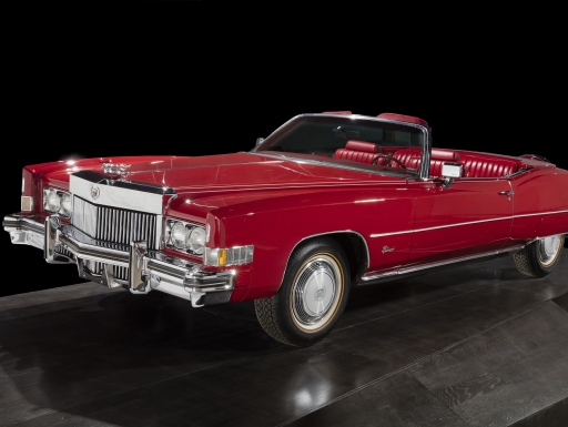 A red Cadillac Eldorado, model year 1973, owned and driven by Chuck Berry.