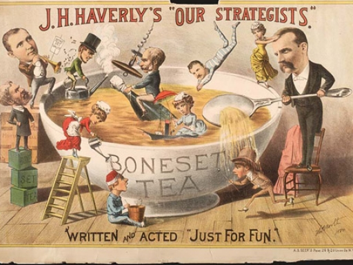 """J. H. Haverly's """"Our Strategists"""" Advertisement"""