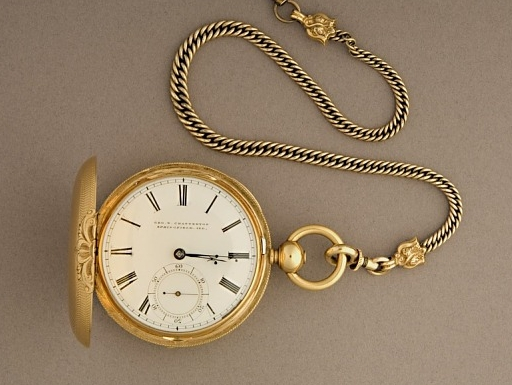 Abraham Lincoln's gold pocket watch, around 1858