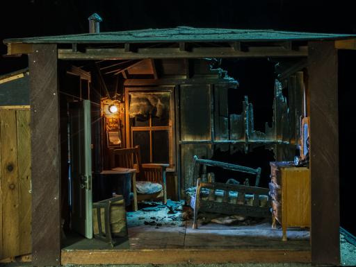 Nutshell Studies - burned cabin