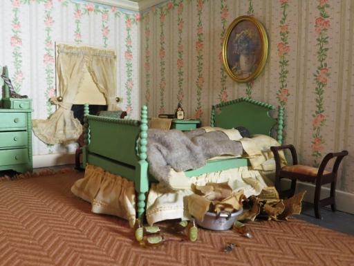 Nutshell Studies - striped bedroom