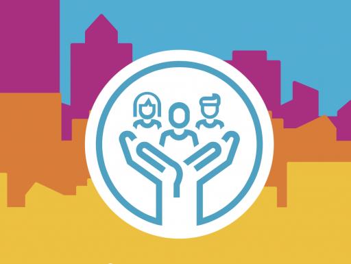 OCLC hands holding community members