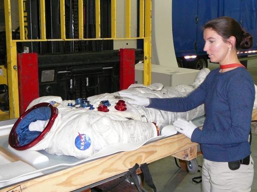 Samantha with Schmitt Apollo 17 suit