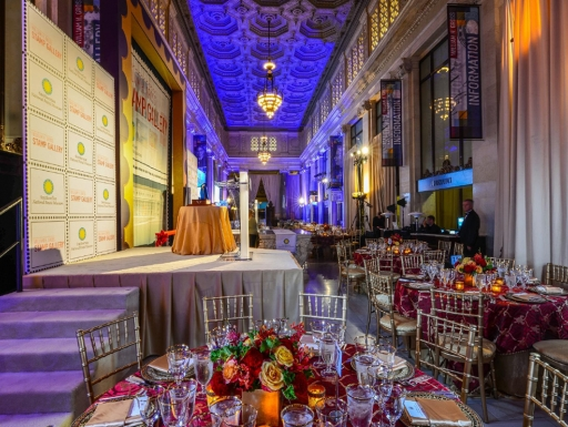 The Historic Lobby   Photo by Juan Carlos Briceño, Catering: Occasions Caterers, Design: Hargrove, Lighting: Showcall