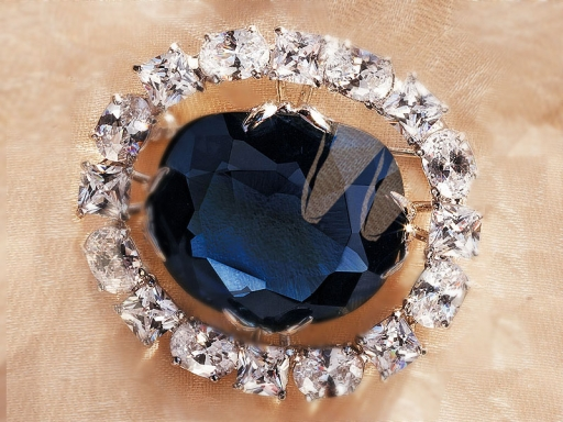 hope diamond brooch