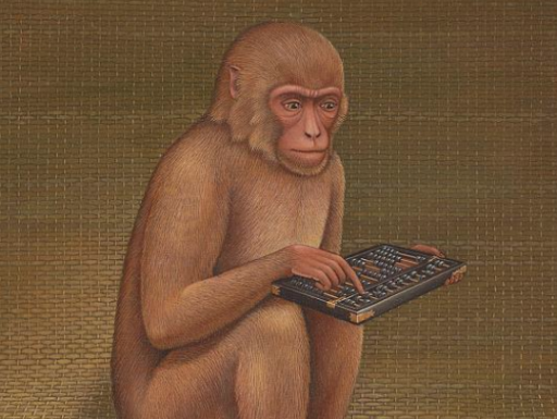monkey with abacus