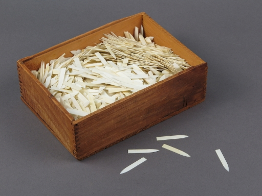 Wooden Box of Ivory Points Used for Smallpox Vaccination