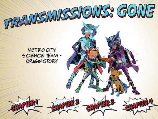 Transmissions Gone Viral superheroes