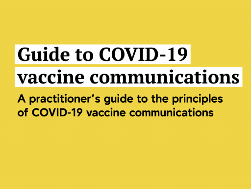 Guide to COVID-19 Vaccine Communications cover