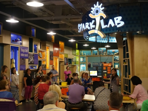 Teacher event at the American History Museum Sparklab.