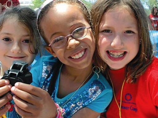 smiling young campers
