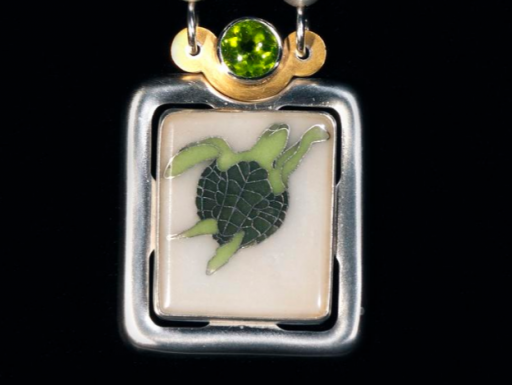 sea turtle pendant.