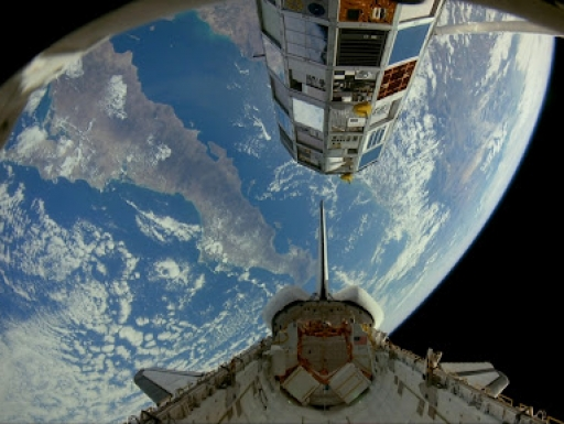 Blue Planet IMAX film view of Earth