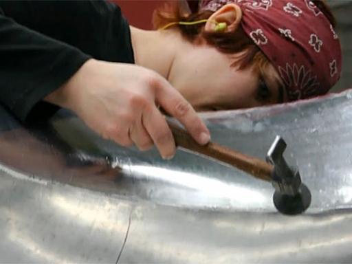 Vivian Beer making furniture