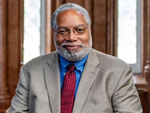 Dr. Lonnie Bunch in the Smithsonian Castle