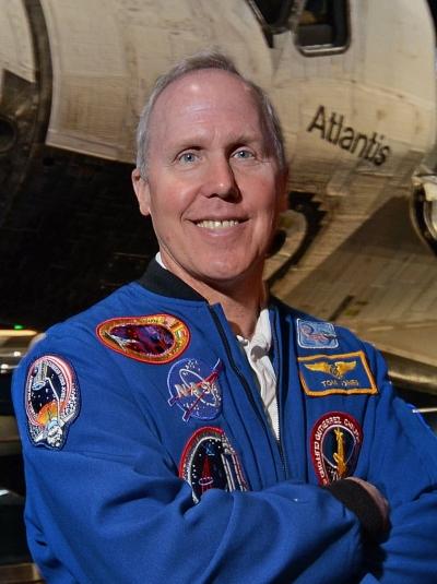astronaut Tom Jones in flight suit