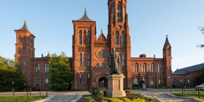 View of north side of the Smithsonian Castle